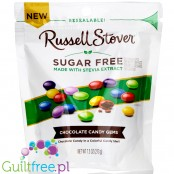 Russell Stover Chocolate Candy Gems - chocolate dragees in sugar-free rainbow shells