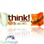 Think! Chocolate Dipped Creamy Peanut Butter Protein Bar, 20g protein