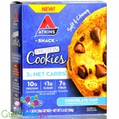 Atkins Nutritionals Snack Protein Cookies, Chocolate Chip BOX OF 4 COOKIES