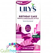 Lily's Sweets No Sugar Added White Chocolate Style Bars, Birthday Cake
