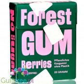 Forest Gum X - vegan sugar-free chewing gum with xylitol and stevia, no plastic