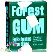 Forest Gum Eucalyptus Menthol - vegan sugar-free chewing gum with xylitol and stevia, no plastic