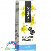 Gymper Flavor Powder Vanilla - soluble flavoring sachets for desserts and sugar-free drinks