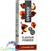 Gymper Flavor Powder Chocolate Nut - soluble flavoring sachets for desserts and sugar-free drinks