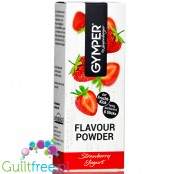 Gymper Flavor Powder Strawberry Yoghurt - soluble flavoring sachets for desserts and sugar-free drinks