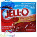 Jell-O Strawberry low fat sugar free jelly, Strawberry flavor
