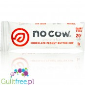 No Cow Chocolate Peanut Butter Cup - vegan keto chocolate dipped protein bar