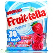 Fruittella Smoothie 30% less sugar, Raspberry & Strawberry soluble candies without sweeteners