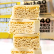 Lo-Dough Miracle Lemon Drizzle Cake Bar 143kcal the least caloric protein bar
