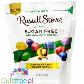 Russel Stover Chocolate Candy Coated Peanuts with stevia, sugar free