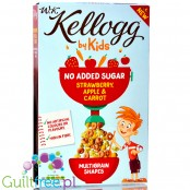 Kellogg by Kids No Added Sugar Strawberry, Apple & Carrot Multigrain Shapes Cereal 350g