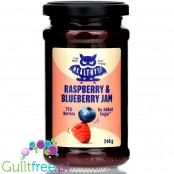 HealthyCo Raspberry & Blueberry Jam, low calorie with stevia