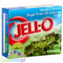 Jell-O low fat sugar free jelly, Lime flavor