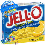 Jell-O low fat sugar free jelly, Lemon flavor