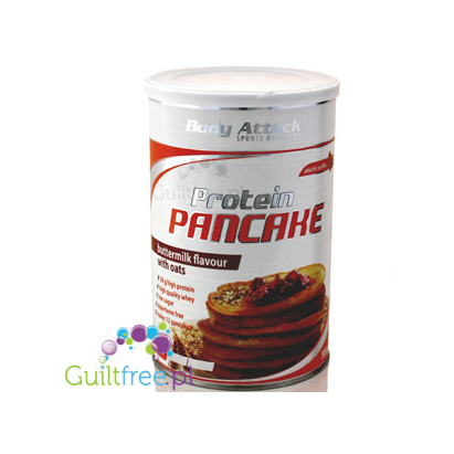 Body Attack Protein Pancake baking mix, buttermilk flavor with oats - protein mix for baking pancakes and waffles with buttermil