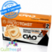 Crunchy wheat toasts with reduced energy and low carbohydrate content