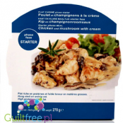 High protein and low fat meal, Chicken and mushroom with cream
