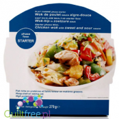 High protein and low fat meal, Chicken wok with sweet and sour sauce