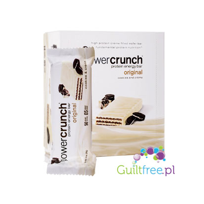 Power Crunch Protein Energy Bar Cookies & Creme contain sugar and sweeteners