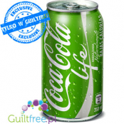 Coca Cola Life Lower Calorie Sparkling Soft Drink with Vegetable Extracts with Sugar and Sweetener