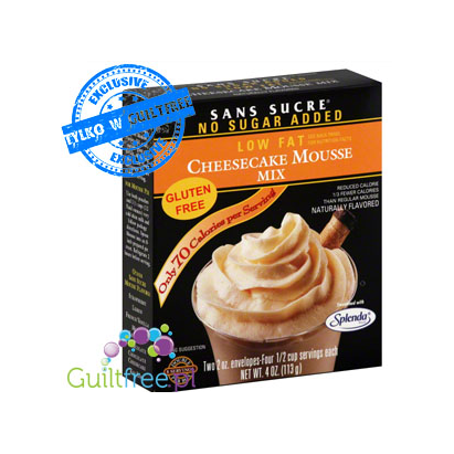Sans Sucre No Sugar Added Low Fat Cheesecake Mouse