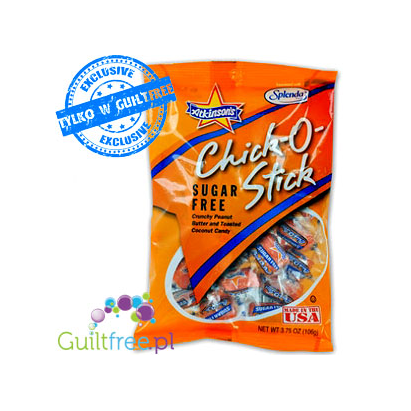 Chick-O-Stick Sugar Free Crunchy Peanut Butter and Toasted Coconut Candy