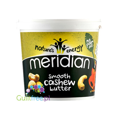 Meridian smooth cashew butter 100% nuts - smoothly ground cashew butter, no added sugar and no salt