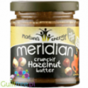 Meridian crunchy hazelnut butter 100% nuts - roasted hazelnut butter, coarsely ground, with no added sugar and no salt