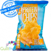 Baked Protein Chips from dried potatoes, Salt & Vinegar