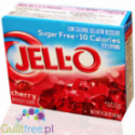 Jell-O Cherry low fat sugar free jelly, Cherry flavor