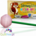 Healthy lollipop Yum-yum sweetened with xylitol and stevia with dried strawberries