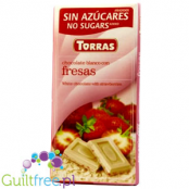 Torras White chocolate with strawberries no suggars added