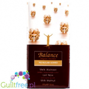 Balance Belgian milk chocolate walnuts, no sugar added