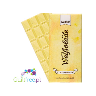 White chocolate without sugar sweetened with Finnish xylitol