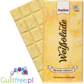 White chocolate without sweetened sugar Finnish xylitol with coconut