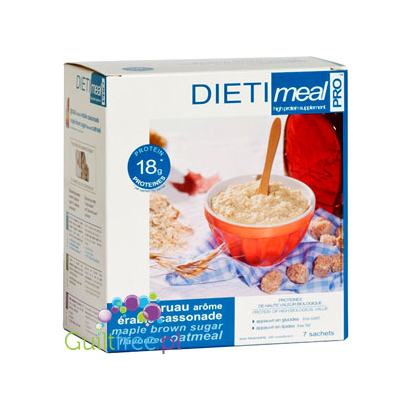 Dieti Mealhigh-protein oatmeal flavored with maple syrup and brown sugar
