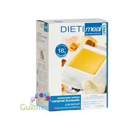 Dieti Meal high-protein pudding with caramel flavor
