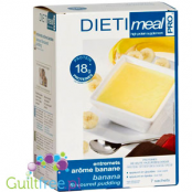 Entremets arôme banane - a high-protein pudding with a banana flavor, contains sweeteners