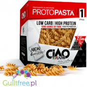 Ultra Low Carb Protopasta Fusilli Prepared with alimentare ad elevato contenuto proteico - High Protein Ultra Low Protein Carboh