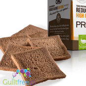 Prototoast Cocoa low calories food preparation - Crunchy toast with cocoa and nuts with reduced energy
