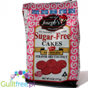 Sugar-free all natural Cakes, Soft Bite-Size Strawberry Coconut