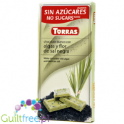 Torras ugar freewhite chocolate with algae and black salt