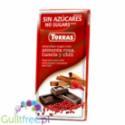 Torras sugar free dark chocolate with pink pepper, cinnamon and chilli