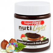 NutiLight sugar free, gluten free Hazelnut & Cocoa Spread with stevia