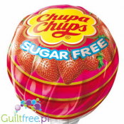 -Chupa Chups Strawberry, sugar free lollipop 26kcal