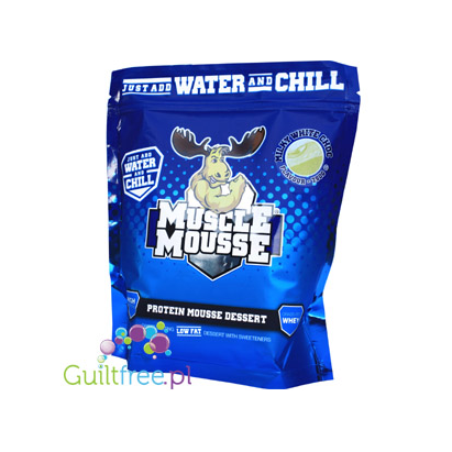 Muscle Mousse® Protein Mousse Dessert Milk White Choc - A high protein, gluten-free dessert blend in the form of white chocolate