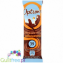 Options Belgian Choc Salted Caramel - milk chocolate flavored with salted caramel, contains sugar and sweeteners