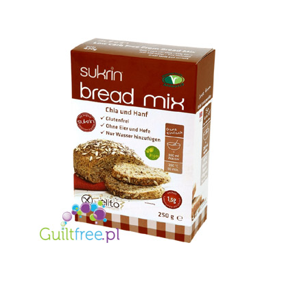 Brød mix med hh hamp - a mixture for baking bread with chia seeds and hemp paste, without gluten, wheat, soy, milk and yeast