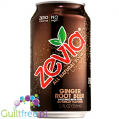 Zevia Ginger Root Beer - carbonated beverage without energy and sugar-free ginger ale, contains sweeteners;