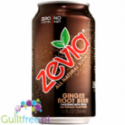 Zevia Ginger Root Beer - carbonated beverage without energy and sugar-free ginger ale, contains sweeteners